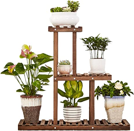 Amazon Com Geebobo 3 Tier Plant Stand Large Multi Tiered Plant Shelf For Multiple Plants Indoor Flower Pots Stand Outdoor Plant Shelvs Rack Holder Garden Outdoor