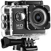 Tinani Full HD 1080P Waterproof Digital Sports Action Camera (Black)