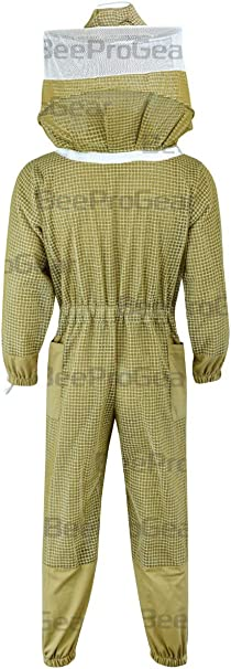 Ultra Ventilated Sting Proof Pilot Style Bee Keeping Suit Large 3 Layers Bee Keeper Suit Fencing Veil Fabric Mesh Clothing