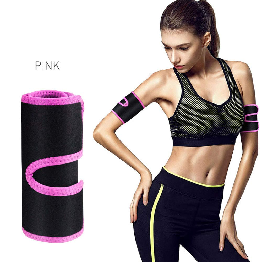 Yellow PBFONE 1Pair Arm Shaper Sweat Arm Trimmers Calories off Warmer Slender Slimming Arm Fat Thermo Compress Belt