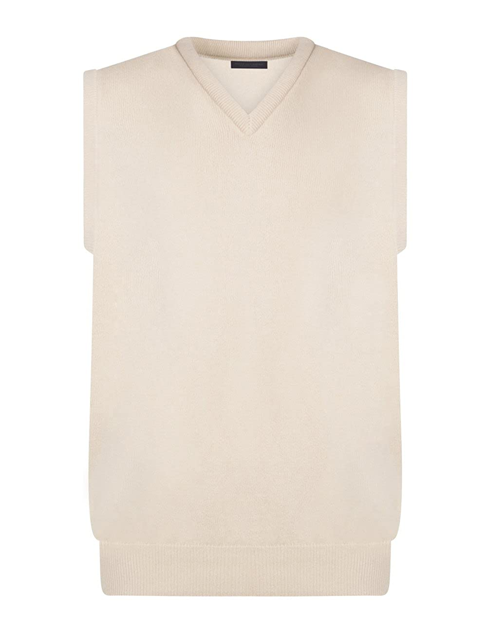 Great and British Knitwear Mens 100/% Lambswool Plain V-Neck Sweater Vest