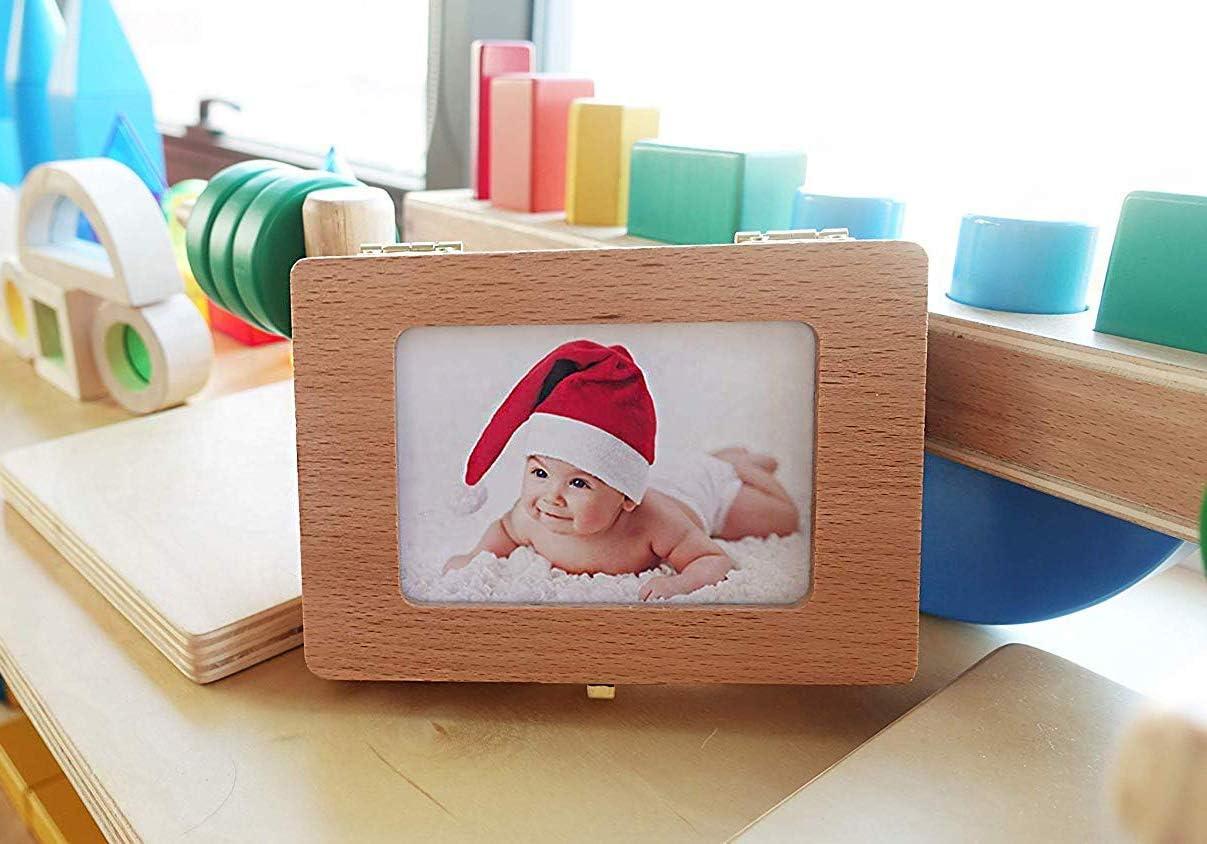 Colecci/ón de Dientes con Marco de Fotos Kit de Organizador de Dientes de Leche Estuche de Recuerdo Caja de Recuerdos Almacenamiento de Memoria QYWSJ Caja de Dientes de Beb/é Regalo