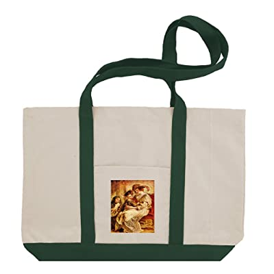 094bed44cd Helene Fourment   Two Children (Rubens) Cotton Canvas Boat Tote Bag Tote  durable service