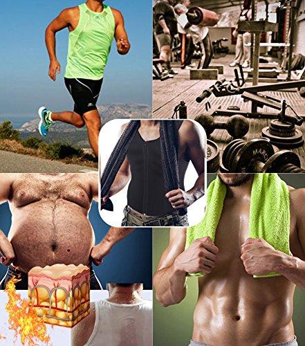 7d6c68a78c Men Waist Trainer Vest for Weightloss Hot Neoprene Corset Body Shaper  Zipper Sauna Tank Top Workout Shirt