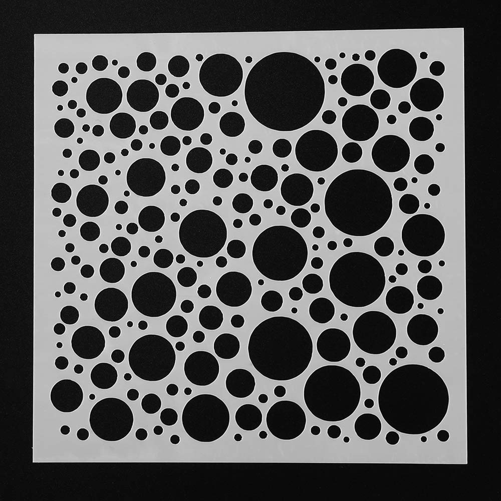 Amiaodz 9pcs//set Paper Card Stamp DIY Craft Album Decorative Layering Stencils Scrapbooking Painting template Geometric patterns
