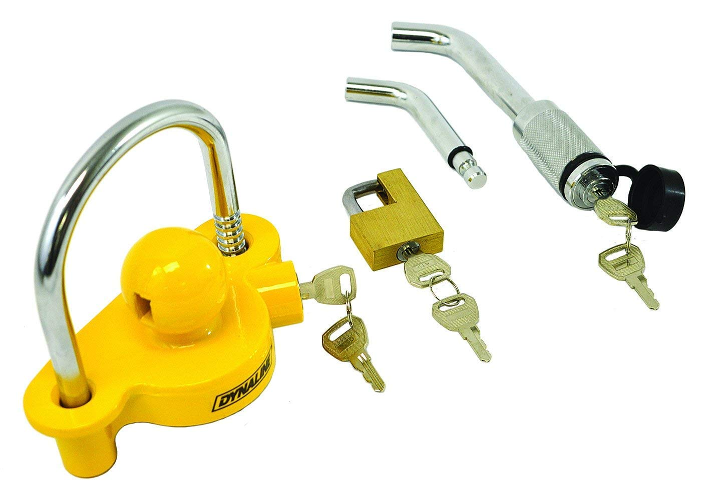 """Adjustable Fit for 1-7//8/"""" to 2-5//16/"""" Inch Couplers Towpro Universal Trailer Lock Kit Hitch Security /& Anti-Theft Keyed Not Alike"""