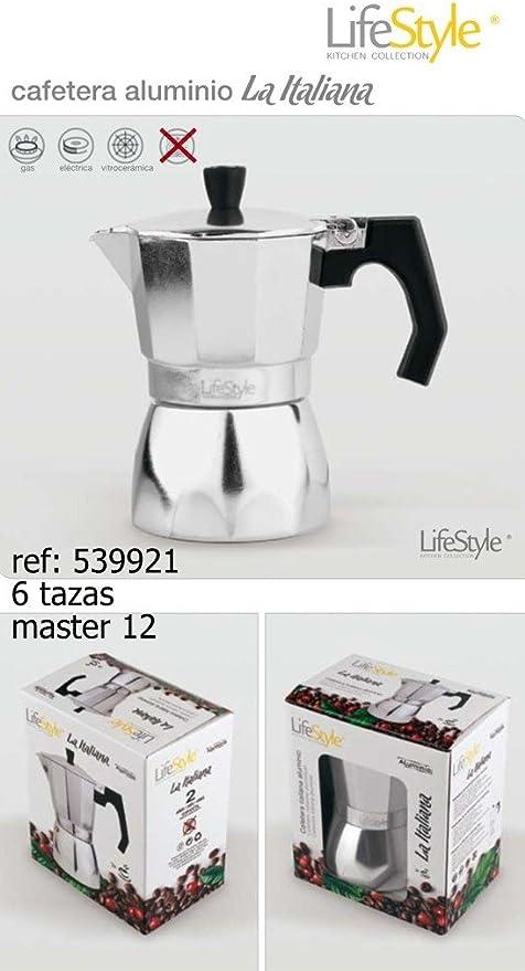 Life Style - Cafetera Espresso La Italiana - Aluminio - 6 Tazas ...