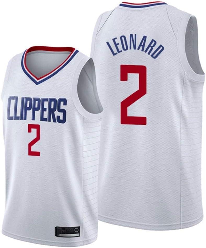 NBA Clippers 2# Leonard Jerseys Jersey de Baloncesto Swingman Bordado Transpirable JAG Camiseta de Hombre y Mujer