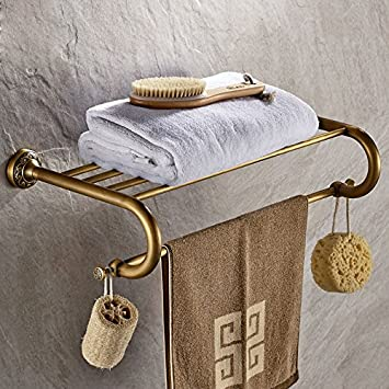 YROAR Toalla de baño toallero de Barra Estante de Pared para baño de Acero Inoxidable para Colgar Toalla de Estilo contemporáneo, Accesorio de?