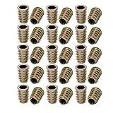 uxcell 30pcs M10x25mm Zinc Alloy Hex Socket Drive Flange Insert Nut for Wood Furniture