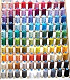 100 Spool Rayon Embroidery Machine Thread Set 100 Most Vibrant Colors - 1100YDS - 40wt for Brother Babylock Janome Singer Pfaff Husquarna Bernina Melco Machines - ThreaDelighT Brand