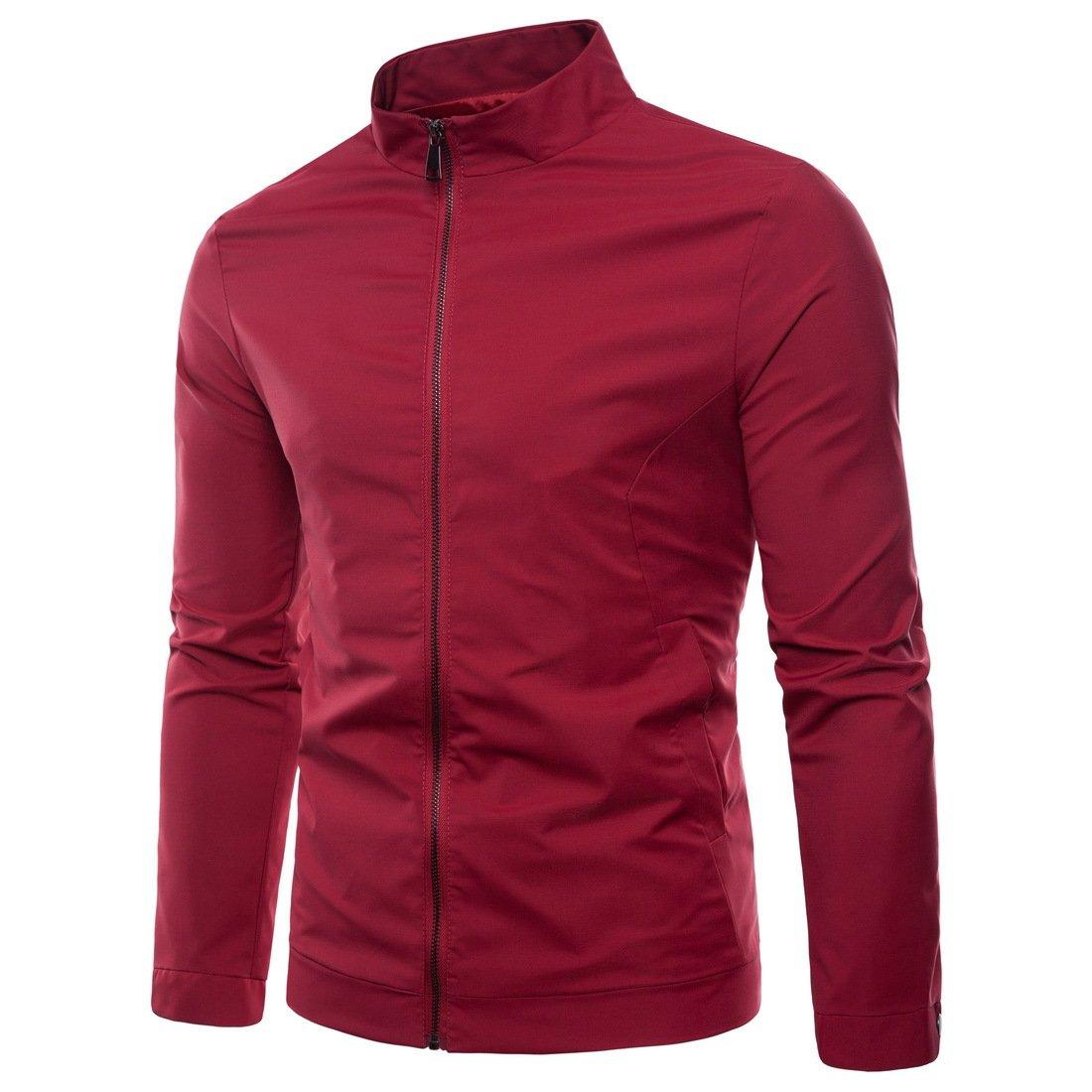 WULFUL Mens Slim Fit Lightweight Windbreaker Jacket Waterproof Casual Outdoor Sportswear
