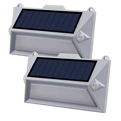 Luces Solares Exterior, 18 LED Luz Solar con Sensor Movimiento 1200mAh Wireless Lámpara Solar Impermeables