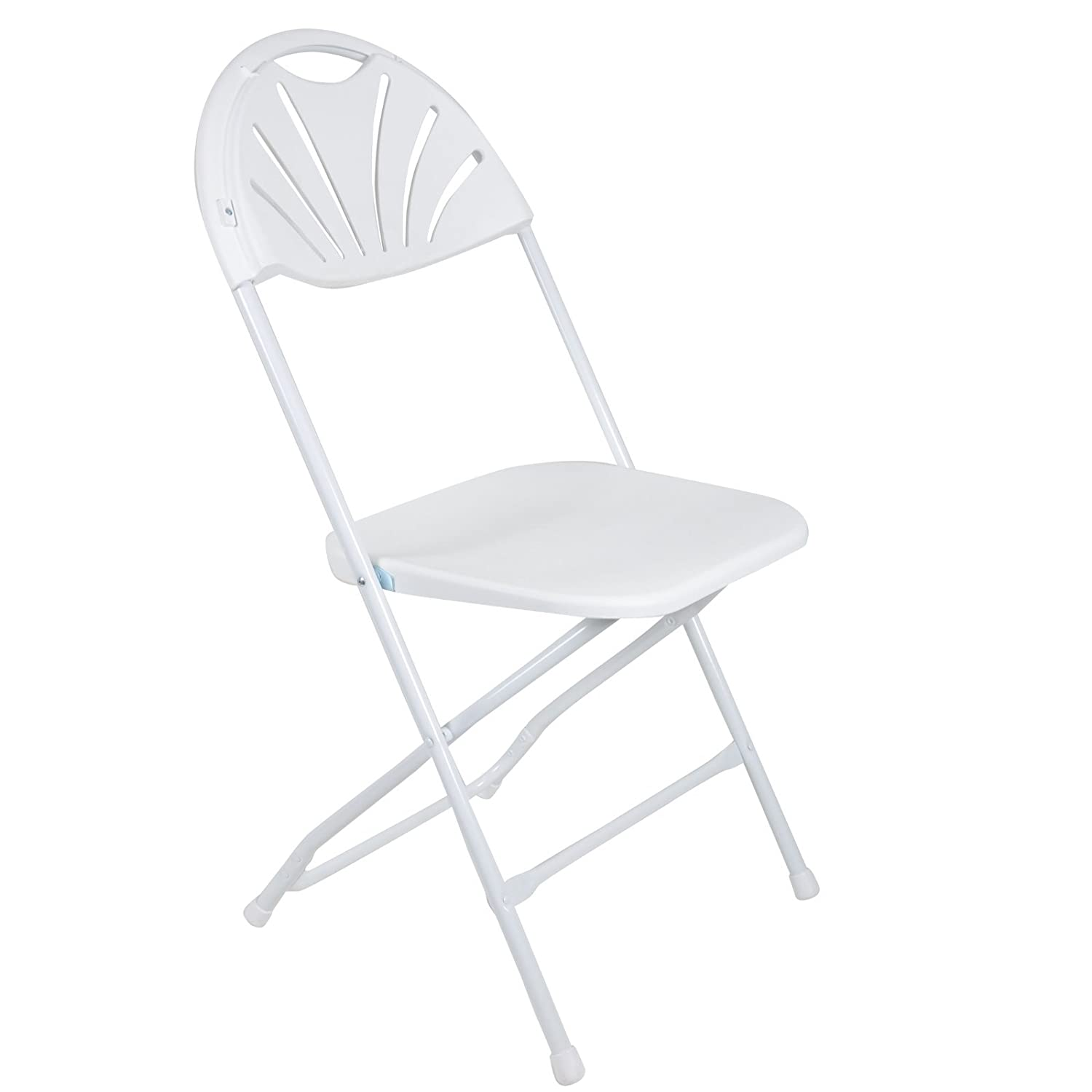 Azuma 2 x Quality Folding Indoor Outdoor Events Banquet/Garden Chairs White Sunrise