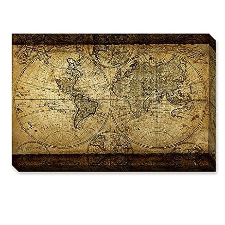 Amazoncom Donglin Art Vintage Large World Map Painting Retro Map - Large world map painting