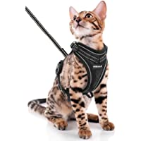 SCIROKKO Cat Harness and Leash Set - Escape Proof Adjustable for Outdoor with 3M Reflective Strap, Soft Mesh with Metal…