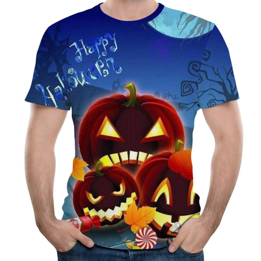 Short Sleeve T-Shirt Creative Halloween Crewneck Graphic Casual Printed Tee Tops Chamnbilli 3D T-Shirt