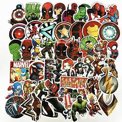 MYOMY Sticker Doodle Waterproof Sticker Pack 50 Piezas Classic Anime Patch Skateboard Laptop Case Motocicleta: Amazon.es: Coche y moto