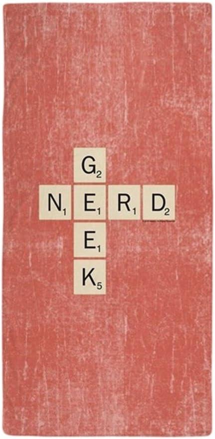 CafePress Scrabble Geek Nerd Toalla de Playa Grande, Suave, 76,2 x 152,4 cm Toalla con diseño único: Amazon.es: Hogar