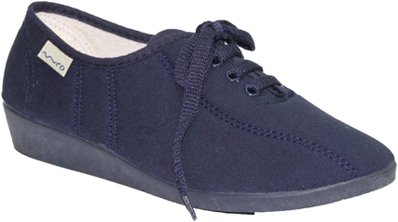Made In Spain Lacets de Chaussures Wedge Muro en Bleu Marine