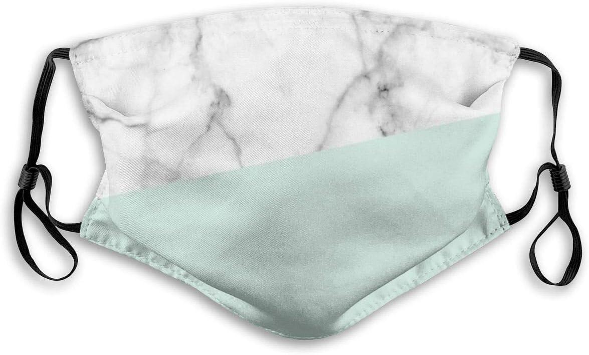 Na Echte wei/ße Marmor Pastell Mintgr/üne Mundmasken Verstellbare Ohrmuschel Gesichtsmaske