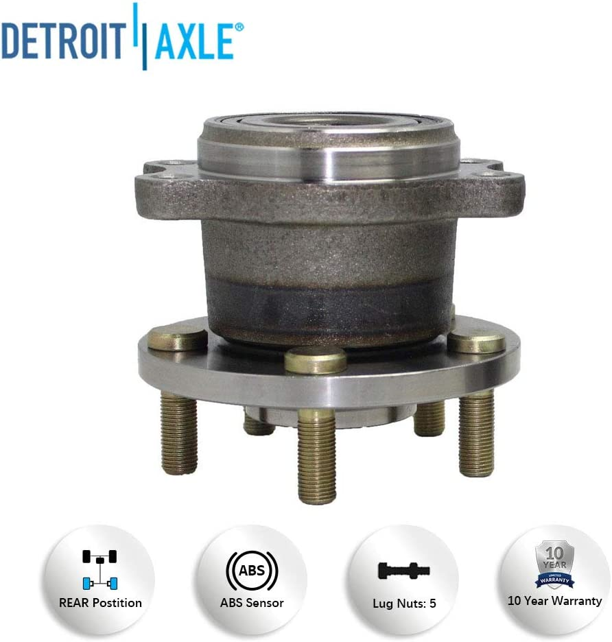 Detroit Axle 512293 Both Rear Wheel Hub and Bearing Assembly for 2005-2009 Subaru Legacy Outback