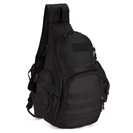 a934f98f7f X-Freedom Tactical Sling Chest Pack Military Chest Bag Shoulder Sling  Backpack MOLLE Large Sling. Roll over image to zoom in