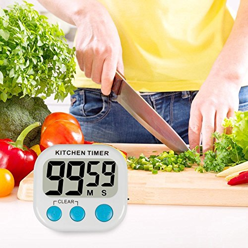 jepeak Digital Lound temporizador de cocina con pantalla LCD ...