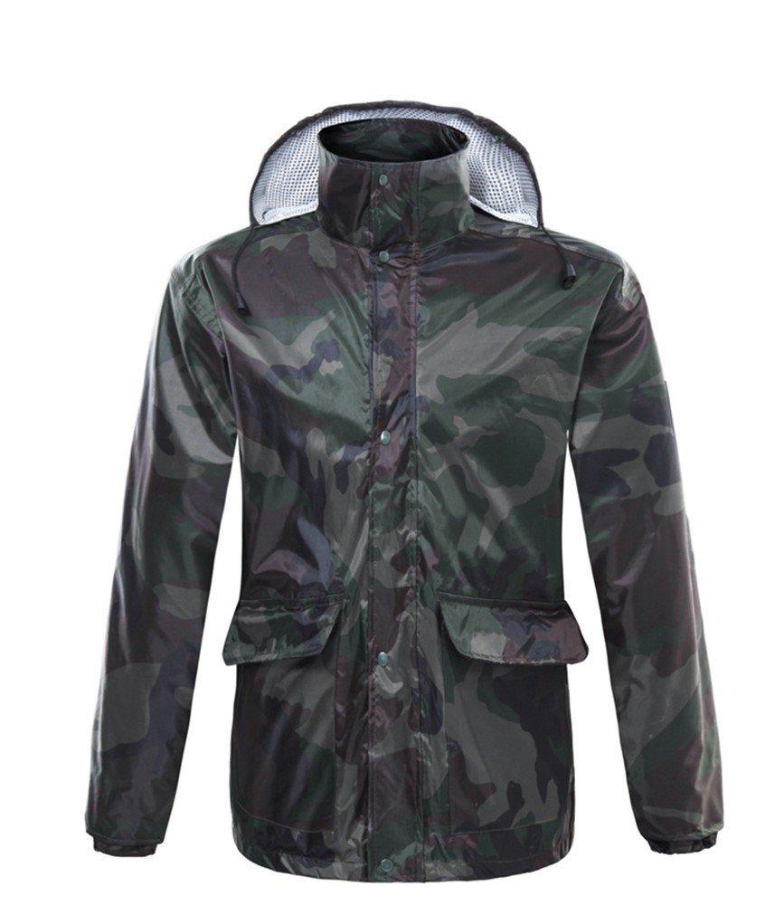 RFVBNM Raincoat rain Pants Suit Adult Body Waterproof Double Thick Men and Women Electric Motorcycle Split Raincoat