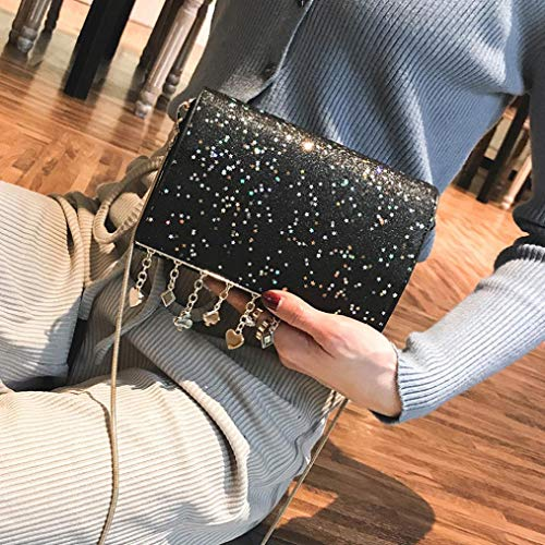 Crossbody Women Tote Bag Pure Black Satchel Messenger EUzeo Phone Shoulder Bag Color Bag 8dRnZwqw