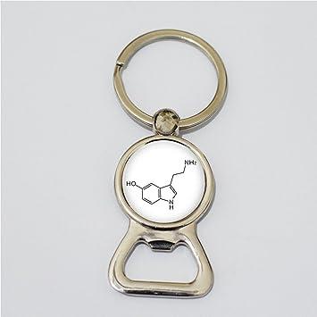 Química botella abridor Llavero - serotonina molécula ...