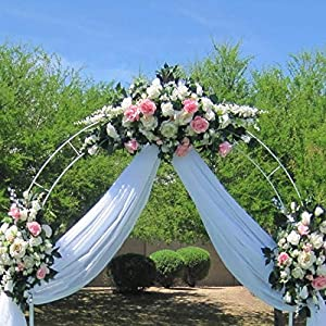 Adorox 7.5 Ft White Metal Arch Wedding Garden Bridal Party Decoration Arbor 2