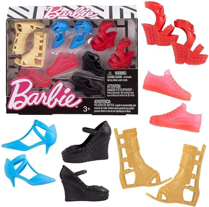 NEW Barbie Fashionista Curvy /& Tall Doll Flat Feet White Slippers Flip Flop Shoe