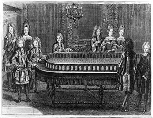 France Court Life 1690S Nwaiting In The Fourth Room Of The Apartments One In A Series Of Etchings 1694-1696 By Antoine Trouvain Depicting A Suite Of Reception Rooms At The - 1695 Series