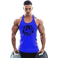 KODOO Camisetas de Tirantes para Hombre Culturismo sin Mangas de algodón Camiseta Músculo Sport Tank Top