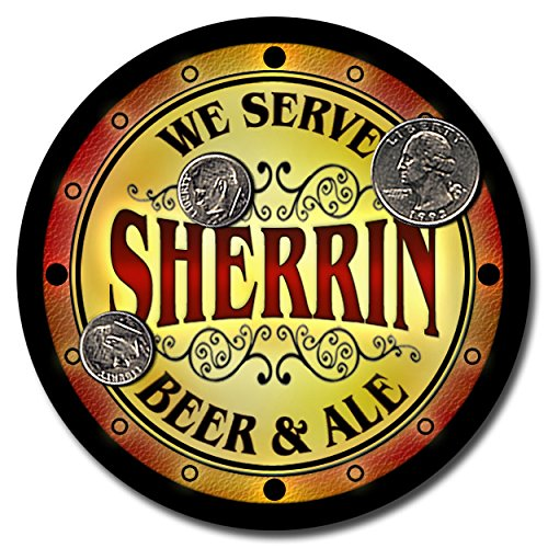 sherrin-family-name-beer-and-ale-rubber-drink-coasters-set-of-4