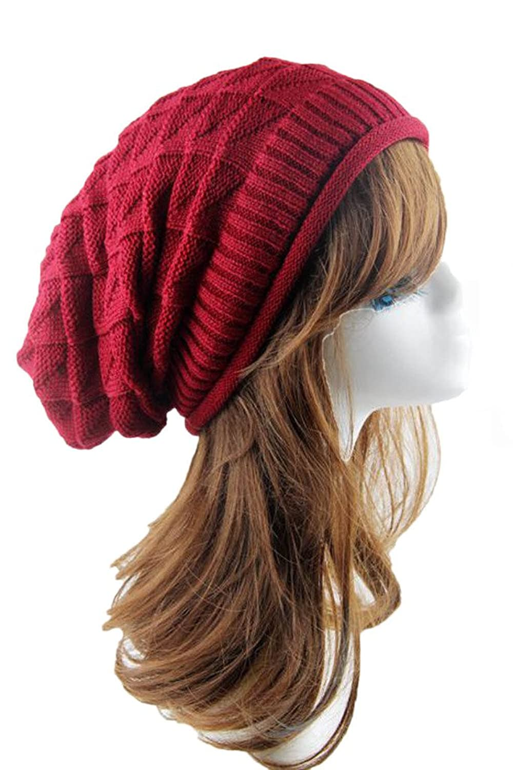 I'MQueen Women's Winter Warm Chunky Crochet Slouchy Beanie Hat Knitted Skull Cap