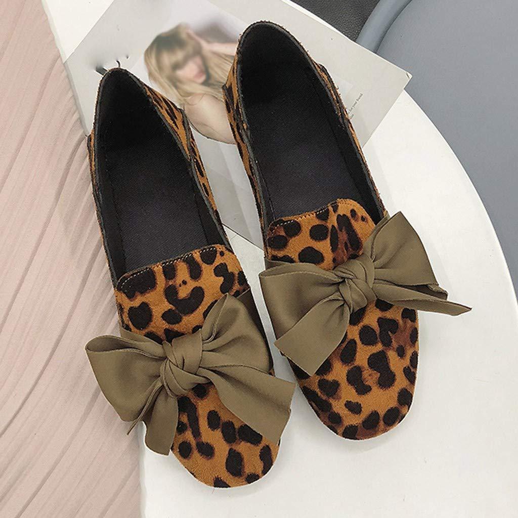 HHyyq Chaussures Femme Mocassins Femmes /À Bout Pointu Chaussures Plates Chaussures De Travail Douces Et Confortables Sandale Femme /Ét/é Plates Chaussures Daim Travail Mode