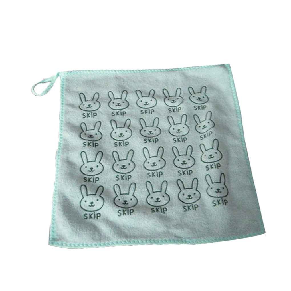 Elenxs Nuevo Conejo de Conejito de Microfibra Plaza de Toallas bebé Recién Nacido Limpieza de la Cocina Mano Wipe Toalla de la Saliva de Baño del Plato del ...