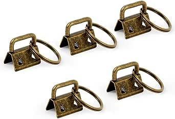 SPEEDWOX 25 Pcs Key Fob Hardware with Split Ring Wristlet Sets Webbing Crafts