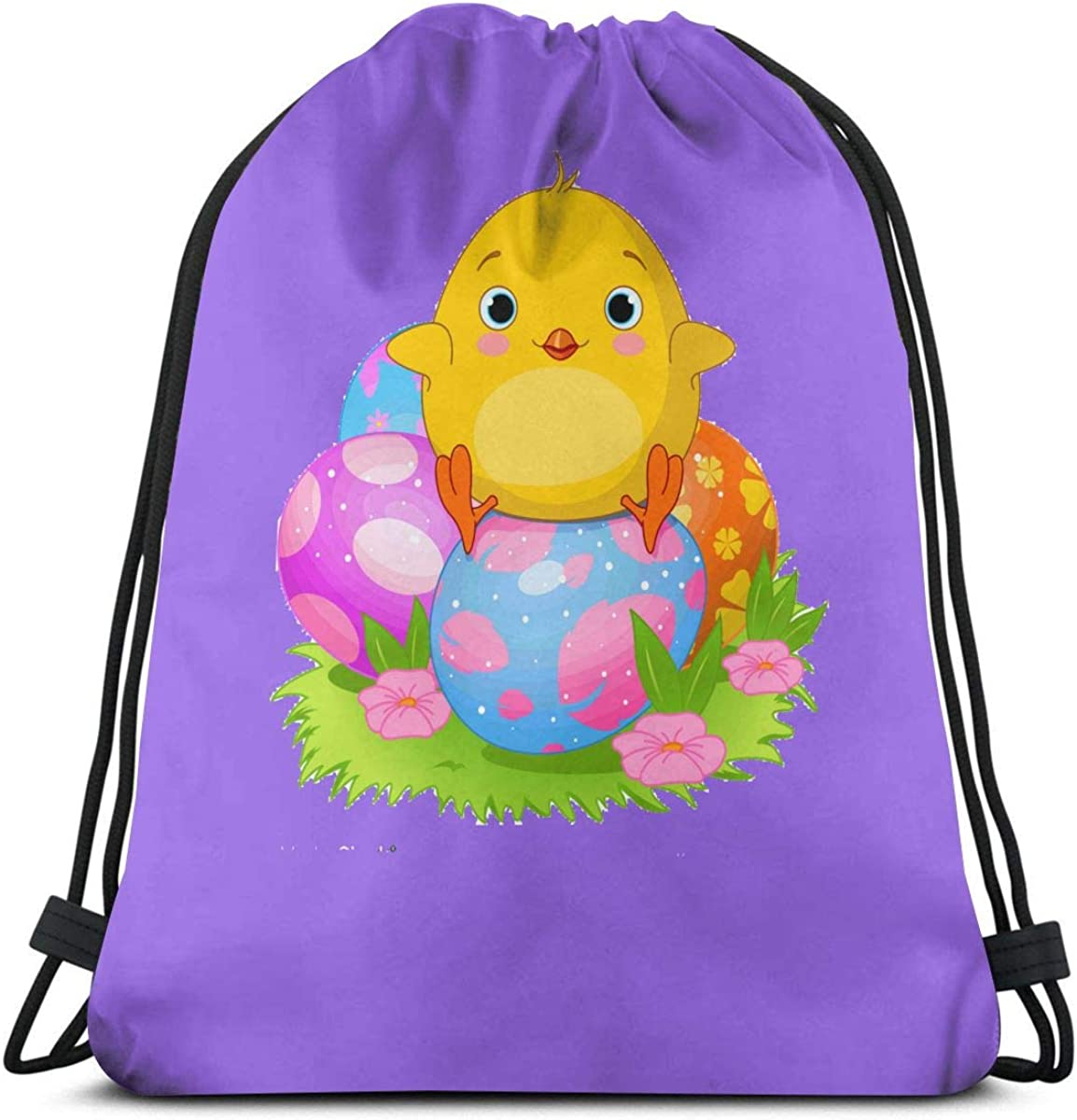 Drawstring Backpack Chicken Eggs Pattern Gym Bag