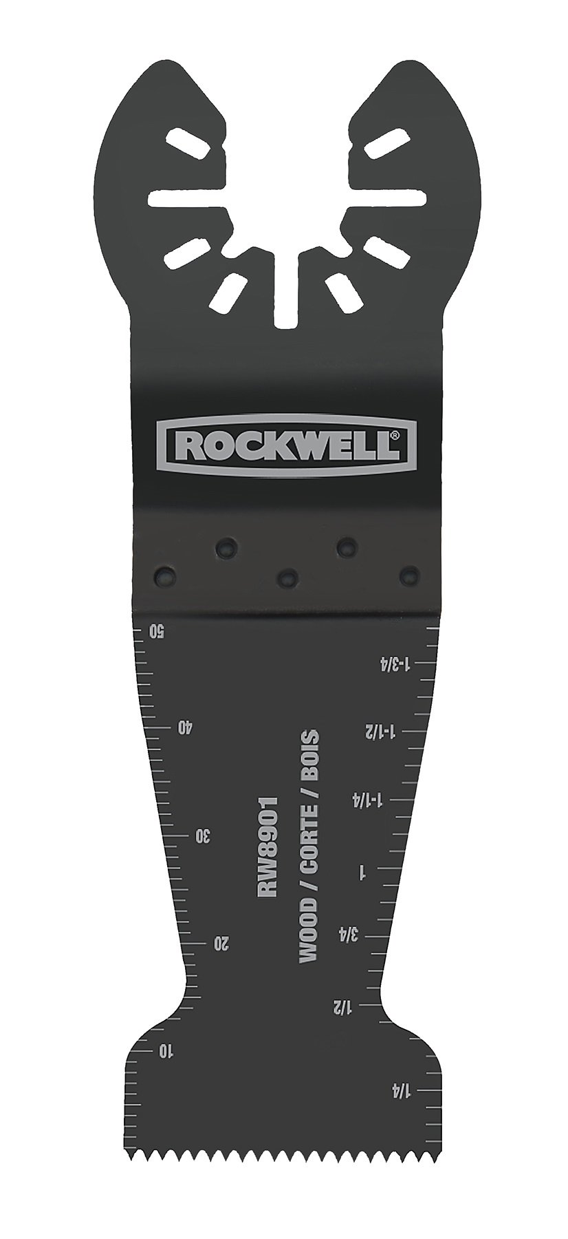 Rockwell RW8901.3 Sonicrafter Oscillating Multitool Wood End Cut Blade (3-Pack), 1-3/8''