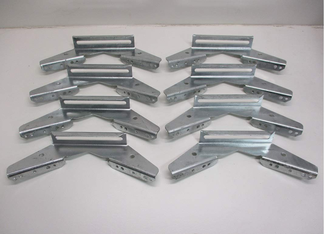 CTW (8) V Wing Pontoon Boat Trailer Bunk Bolster Brackets/Adjustable Galvanized by CTW