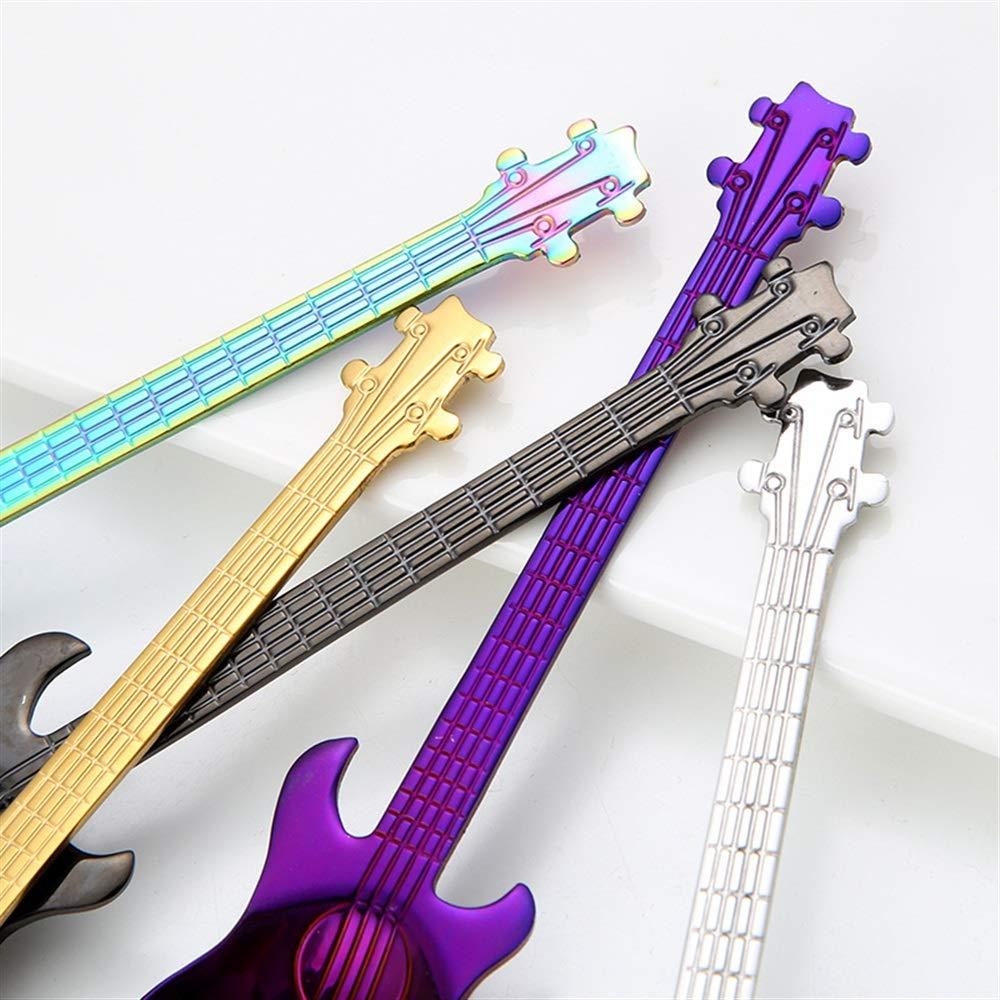 Dessertl/öffel Gitarre L/öffel Teel/öffel Teel/öffel Eisstab Bar Musik Geschenk Kreative L/öffel bunt