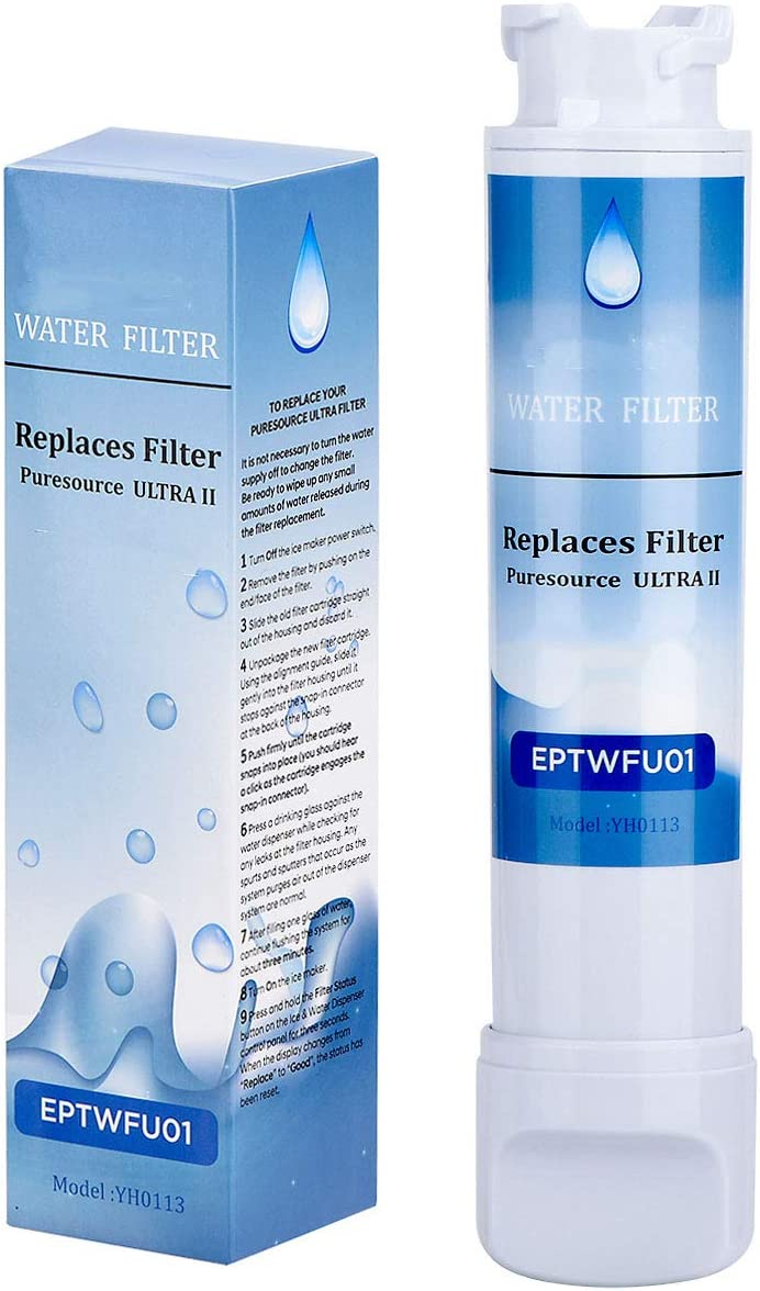 CRI-FY ЕΡТWFU01 Pure Source Ultra 2 Compatible Pure Source Ultra ii Refrigerator Water Filter Replacement French Door Models (1-Pack)
