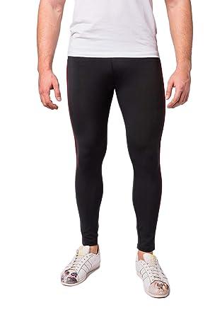 b687b4d6a99 Kapow Meggings Men's Performance Range Leggings - Sports Compression &  Pockets (Red Leader, ...