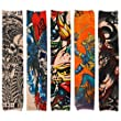 BMC Cool 10pc Punk Rock Inspired Fake Temporary Tattoo Sleeves Body Art Arm Stockings - Designs Dragon, Dancer, Etc.