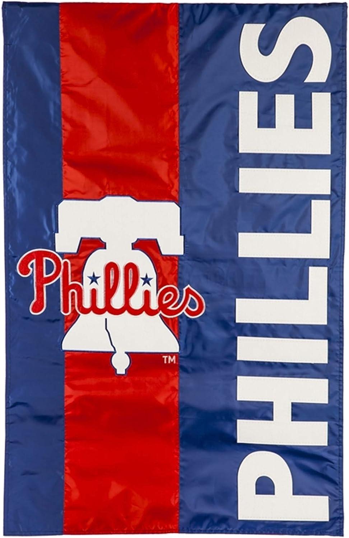 Rico Industries, Inc. Philadelphia Phillies Embellished Premium 2-Sided Garden Flag Applique Banner