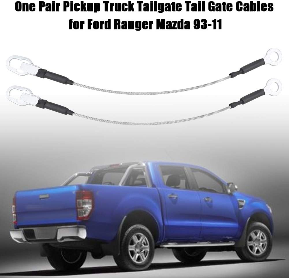 One Pair Pickup Truck Tailgate Tail Gate Cables for 93-11 Tailgate Cables