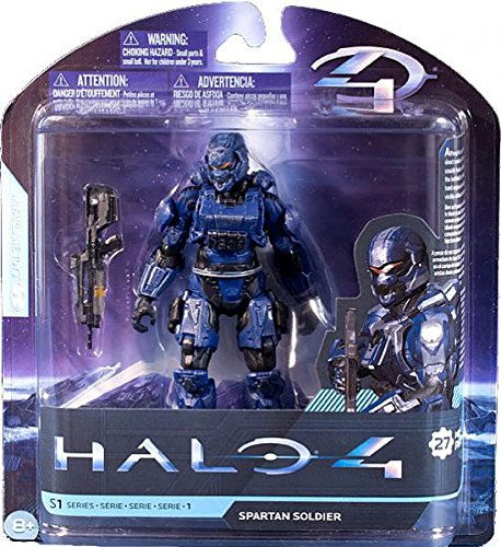 Halo 1 Toys - McFarlane Toys Halo 4 Series 1 - Blue Spartan Soldier with Battle Rifle Action Figure